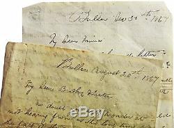 1867 Manuscript Letters NEW ZEALAND GOLD PROSPECTING West Coast Gold Rush