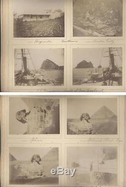 1890s Albumen Photo Album Of Egypt, Saltsburg, New Zealand, Ships