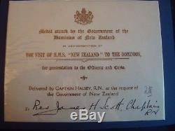1913 HMS NEW ZEALAND MEDAL to REVEREND JAMES H SCOTT CHAPLIN R. N