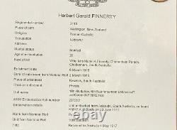 1915 Trio to Finnerty born in New Zealand 16th Bn WWD 13 Aug 1915 on Gallipoli