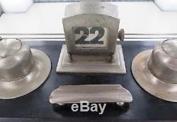 1925 New Zealand Nz All Blacks Presentation Large Desk Set. Engraved And Dated
