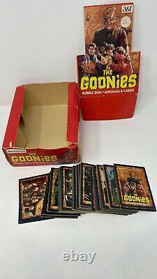 1985 Allens & Regina The Goonies Trading Cards Box, comp. 1-86 set New Zealand