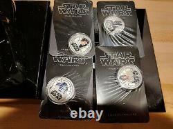 2011 Star Wars Darth Vader Coins R2-D2 Luke Skywalker Darth Vader Princess Leia