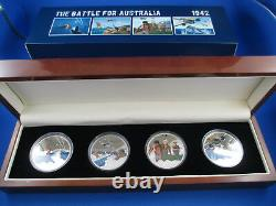 2012 Niue $1 The Battle For Australia Silver Proof Collection (4) Coins