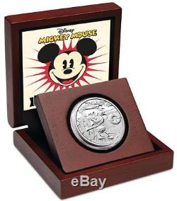 2014 $2 Disney Mickey Mouse Steamboat Willie 1oz Silver Proof Coin New Zealand