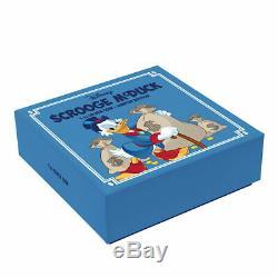2015 Disney Scrooge McDuck 1 oz. 999 Silver Coin + COA + Box PF 70 Ultra Cameo