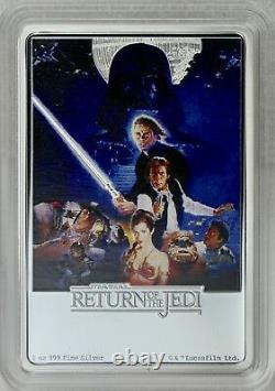 2017 $2 Star War Poster Collection Return of the Jedi, 1 oz Pure Silver Colored