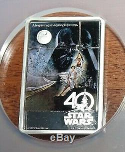 2017 STAR WARS 40th Anniv. A New Hope POSTER Coin NGC Certified PF69 ULTRA CAMEO