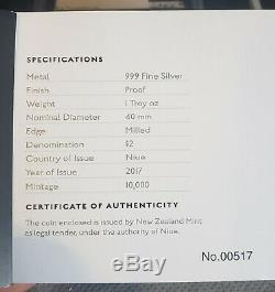 2017 Star Wars LUKE SKYWALKER Niue 1oz Silver Classic Collection PF70 NGC