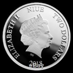 2018 2019 Niue $2 Disney Princess Gemstone 4 Coin Silver Set PCGS PR 70 DCAM