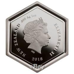 2018 Manuka Honey Bee 1 oz Silver Proof Coin New Zealand