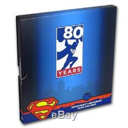 2018 Niue 5 gram Silver Superman 80th Anniv Six-Note Collection