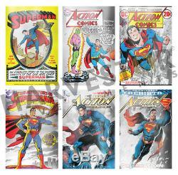 2018 Superman Silver Coin Note Collection 6 X 5 Gram Coin Notes Silver Foil