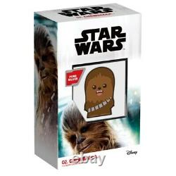 2020 1 oz Colorized Silver Star Wars Chewbacca Niue Chibi Coin Collection