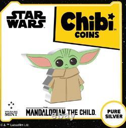 2021 Chibi Coin Star War The Mandalorian The Child 1oz Silver Coin