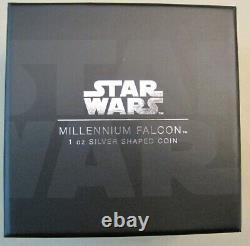 2021 Millennium Falcon 1 oz Silver Coin 1/5,000