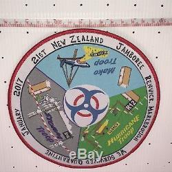 21st New Zealand Jamboree Marlborough Renwick Quarantine Badge Extremely Rare