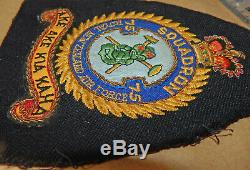 2 DEFUNCT Royal NEW ZEALAND Air Force RNZAF 75 FIGHTER Squadron PATCHES QE2 era