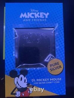 #61 Chibi Coin Collection Disney Series Mickey Mouse 1oz Silver Coin IN HAND