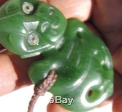 ANDREW MCGREGOR's New Zealand Maori Pounamu Nephrite Jade GREENSTONE Hei Tiki