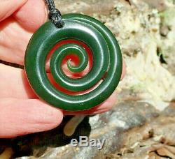 A Jenner Nz Maori Greenstone Pounamu Nephrite Arahura Jade Maori Spiral Koru