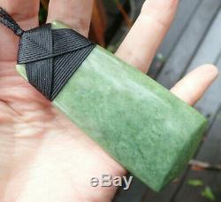 A Jenner Nz Maori Greenstone Pounamu Nephrite Rare Flower Jade 4 Hei Toki Adze