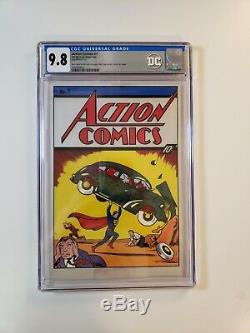 Action Comics #1 CGC 9.8 35 Grams Silver Foil Superman DC 2018 New Zealand MT