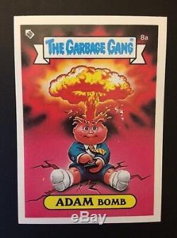 Adam Bomb 8a Garbage Pail KidsNew Zealand The Garbage Gang Mint Pack Fresh