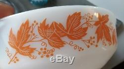 Agee New Zealand Pyrex Orange leaves dish