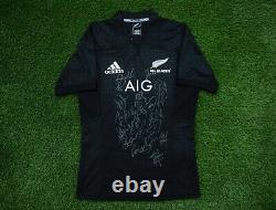 All Blacks New ZEALAND RUGBY TEAM SIGNED JERSEY AFTAL COA
