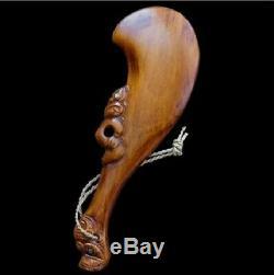 Authenic New Zealand Maori War Club Hand Carved
