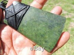 BIG BROAD NewZealand Greenstone Jade Pounamu Nephrite Maori Shane's QUALITY TOKI