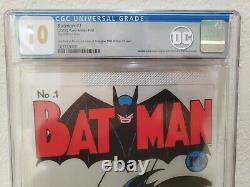 Batman #1 Silver Foil 10.0 Gem Mint CGC. 999 Fine Silver New Zealand Mint 10