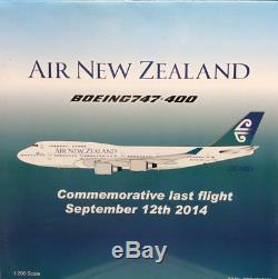 Blue Box 1/200 Boeing 747-400 Air New Zealand (Last Flight) BBOXZK7474