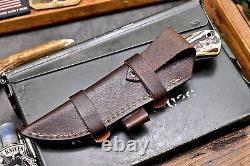 CFK Handmade 154CM Custom DEER Scrimshaw New Zealand Red Stag Antler Blade Knife