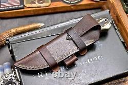 CFK Handmade 154CM Custom DEER Scrimshaw New Zealand Red Stag Antler Blade-Knife