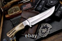 CFK Handmade AUS-8 Custom Vintage New Zealand Red Stag Antler Hunting Knife Set