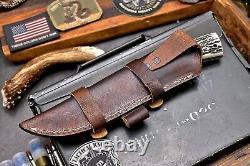 CFK Handmade Hammered DC53 Custom New Zealand Red Stag Antler Hunting Camp Knife