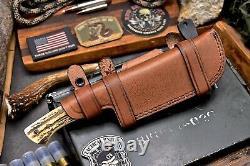 CFK Handmade VG10 Custom New Zealand Red Stag Antler Hunting Skinner Knife Set