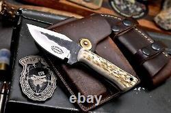 CFK Handmade VG10 Custom New Zealand Red Stag Antler Hunting Skinner Sport Knife