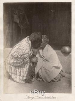 C. 1880's PHOTO NEW ZEALAND HONGI MAORI SALUTATION