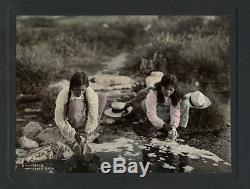 C. 1900 Photo New Zealand Maori Women Washing Clothes Parkerson