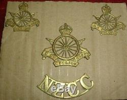 Cap Badges-original Ww1 New Zealand Cyclist Corps Cap Collars & Title Set
