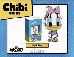 Chibi Coin Collection Disney-Series (Daisy Duck 1oz Silver Coin) IN-HAND