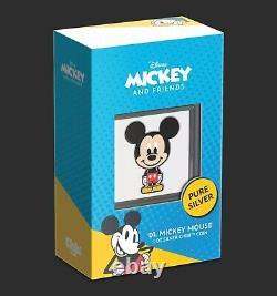 Chibi Coin Collection Disney Series Mickey Mouse 1oz Silver Coin LE /2000