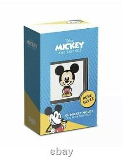 Chibi Coin Collection Disney Series Mickey Mouse 1oz Silver Coin NZ MNT IN HAND