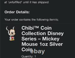 Chibi Coin Collection Disney Series Mickey Mouse 1oz Silver Coin PRE ORDER