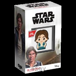 Chibi Coin Collection Star Wars Series Han Solo 1oz Silver Coin LIMITED EDITION