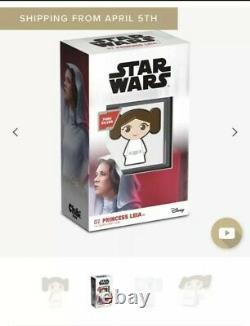 Chibi Coin Collection Star Wars Series Princess Leia 1oz Silver Coin PRE-SALE