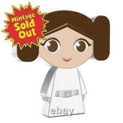 Chibi Coin Collection Star Wars Series Princess Leia 1oz Silver Coin Pre-Order